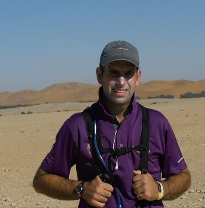 Photo of Matt in Namibia during Walk to a Better World
